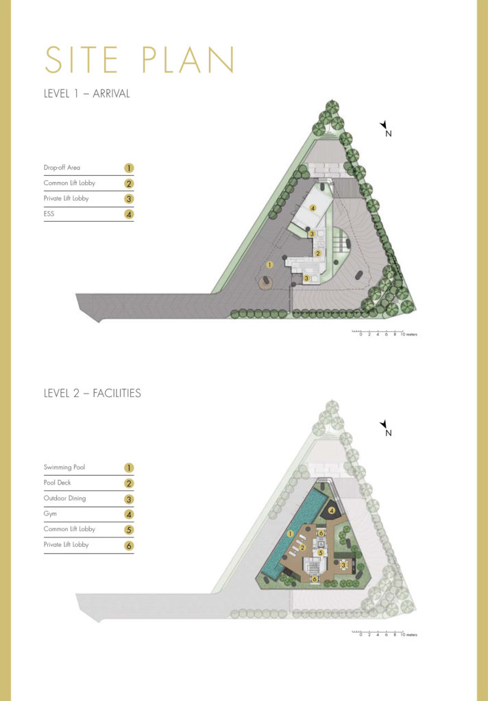One Draycott Site Plan Singapore